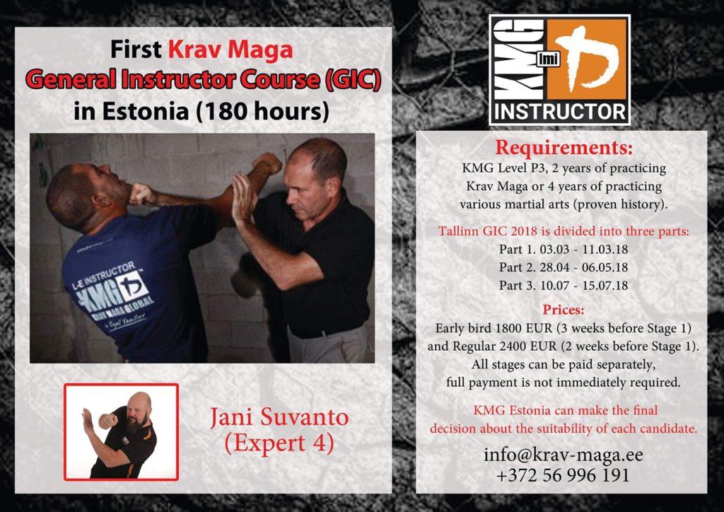 krav maga eesti enesekaitse treener kursus